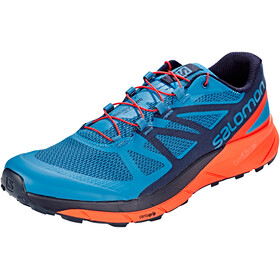 Salomon Sense Ride Shoes Men Fjord Blue/Cherry Tomato/Navy Blaze
